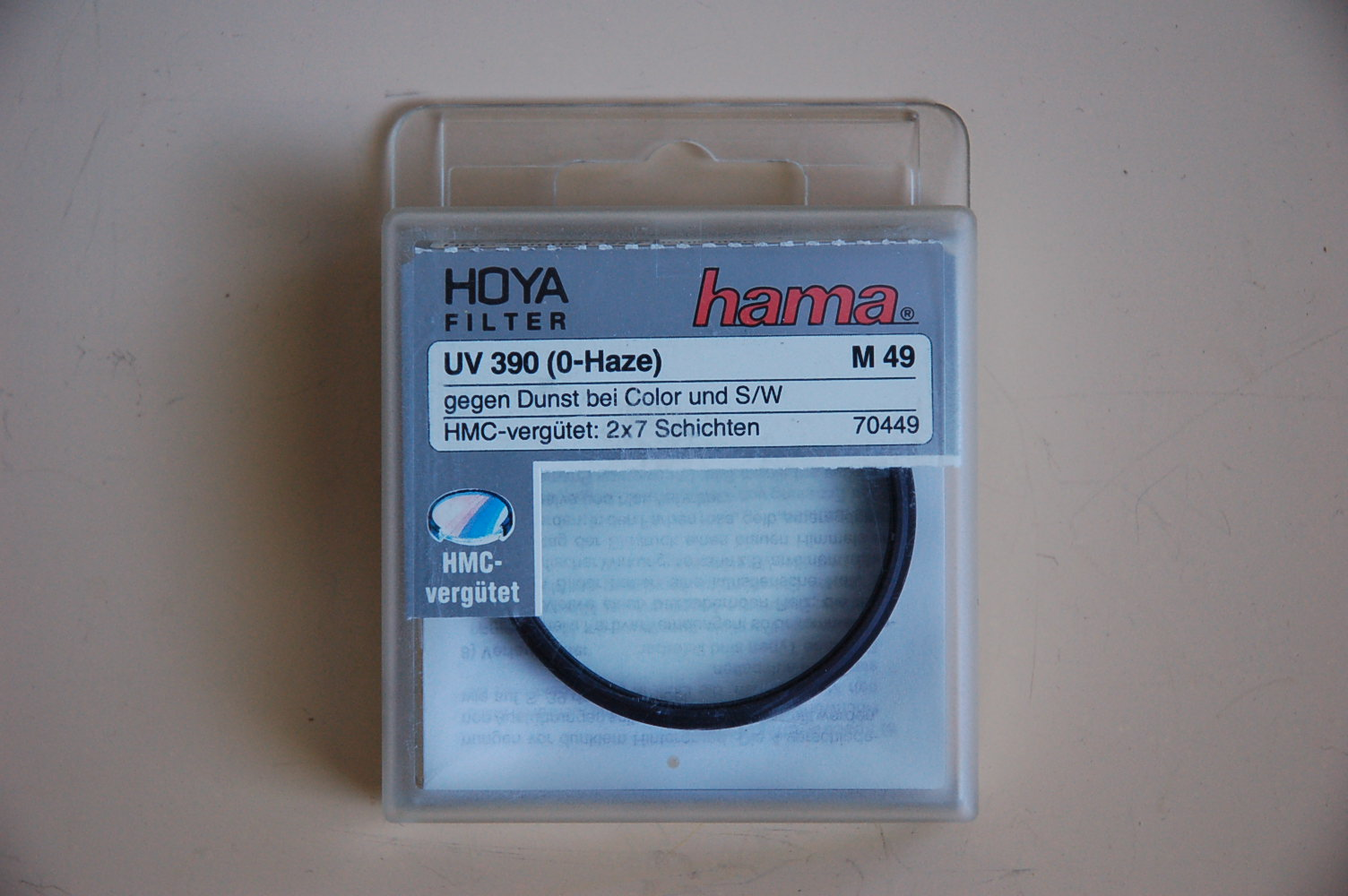 Hama Filter UV-390 (0-Haze) M49 #70449