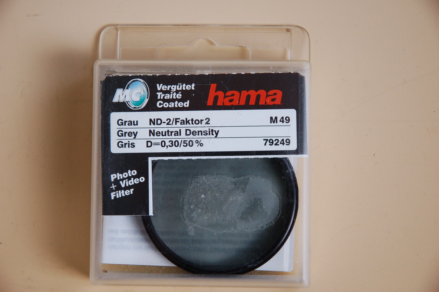Hama Filter Grau ND-2 M49 #79249