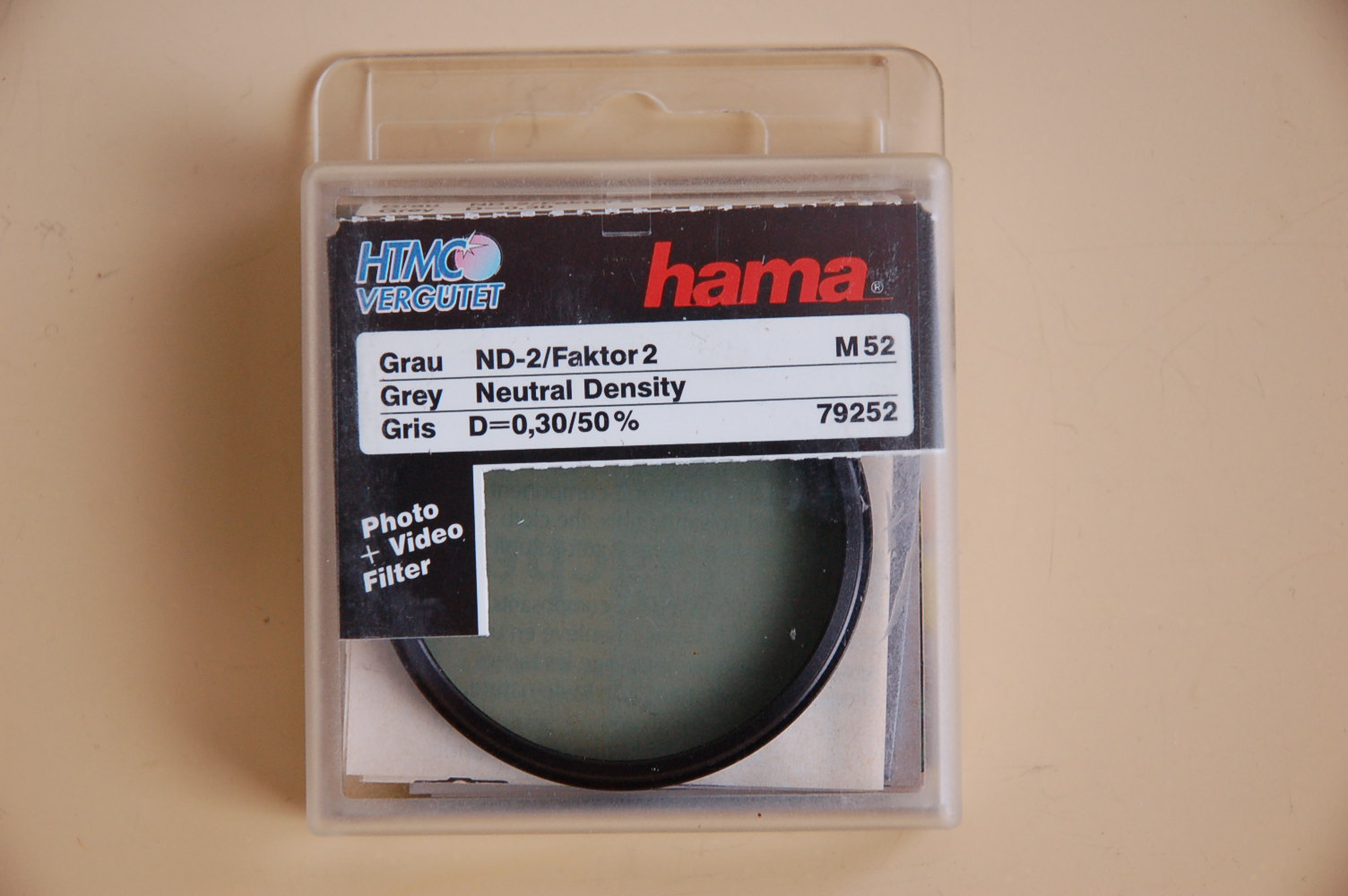 Hama Filter Grau ND-2 M52 #79252