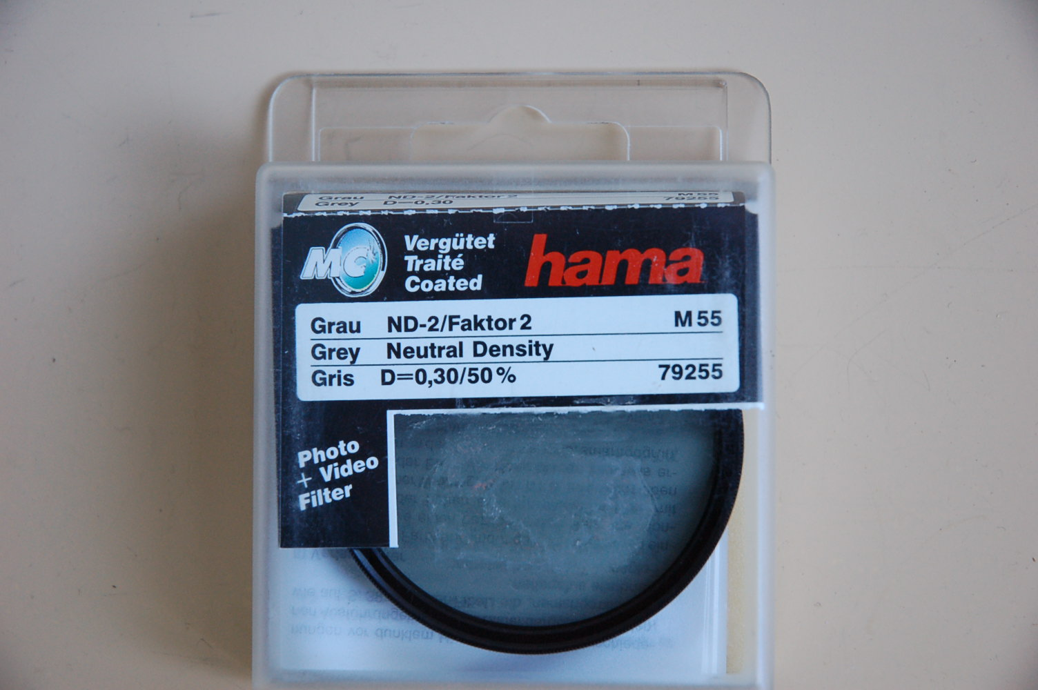 Hama Filter Grau ND-2 M55 #79255