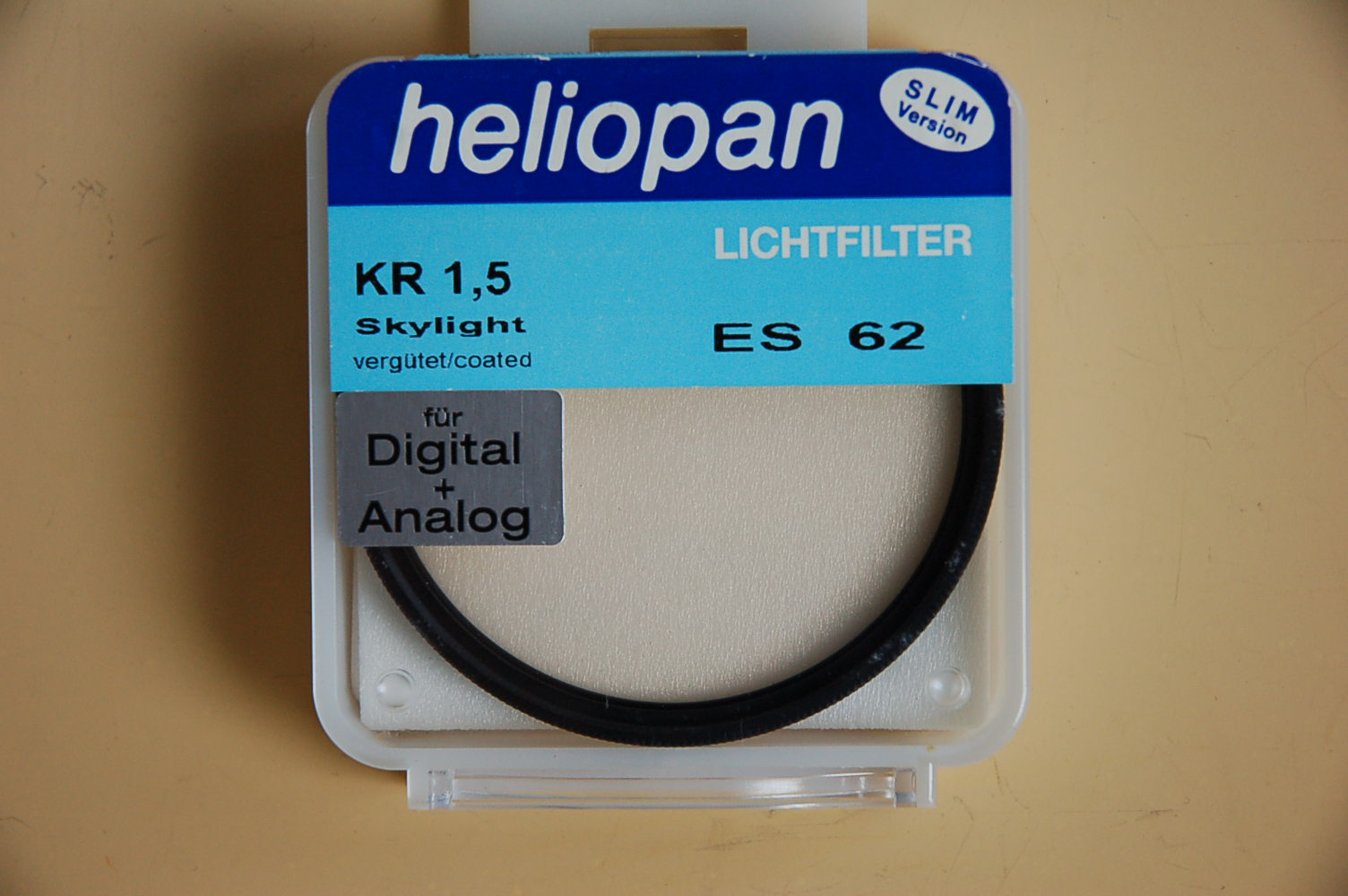 Heliopan Filter KR 1,5 Skylight 1A Ø62ES #301562