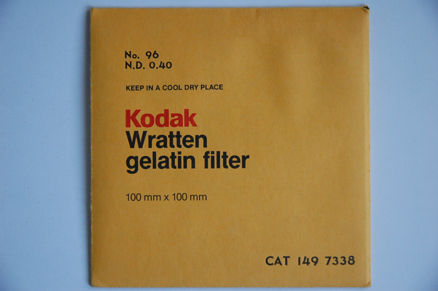 Kodak Filterfolie Nr.96 ND0,40 100x100mm 1497338