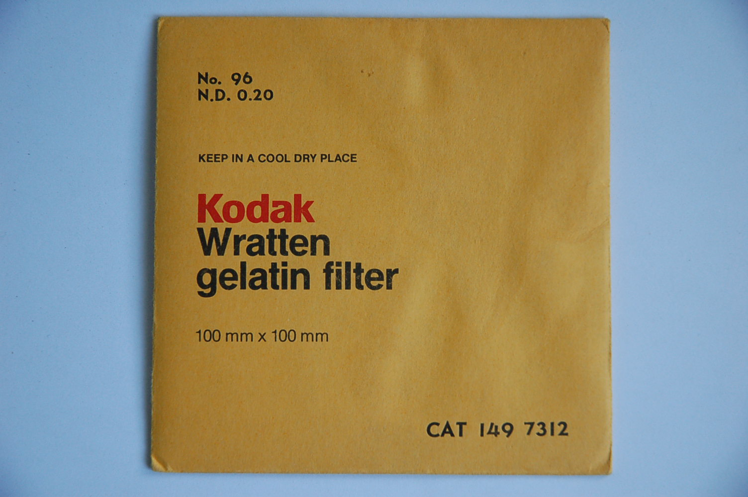 Kodak Filterfolie Nr.96 ND0,20 100x100mm 1497312