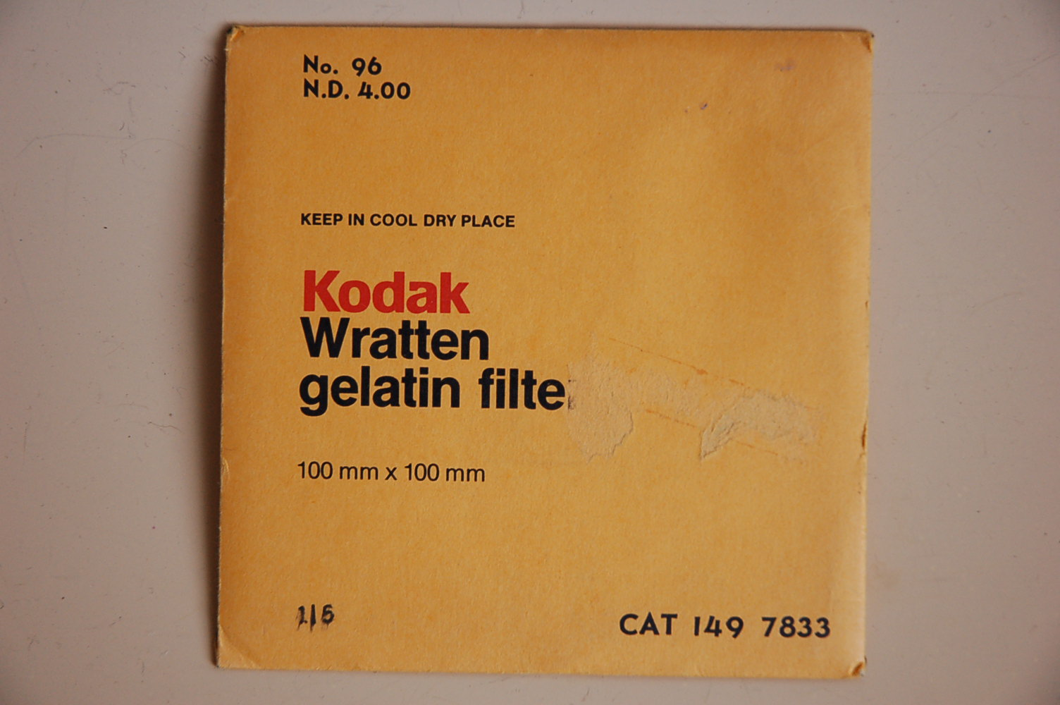 Kodak Filterfolie Nr.96 ND4.00 100x100mm 1497833