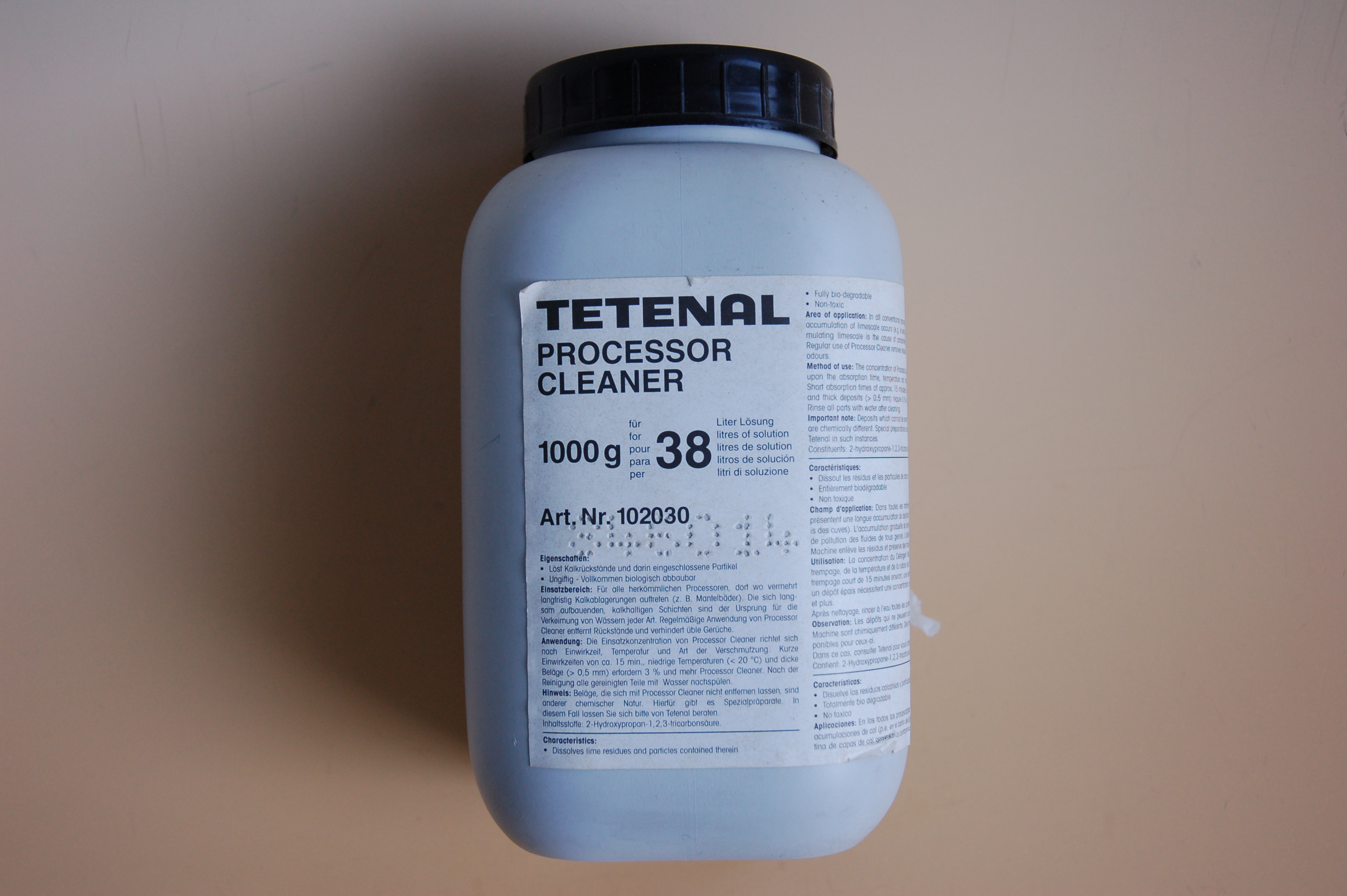 Tetenal Processor Cleaner 1000g 102030