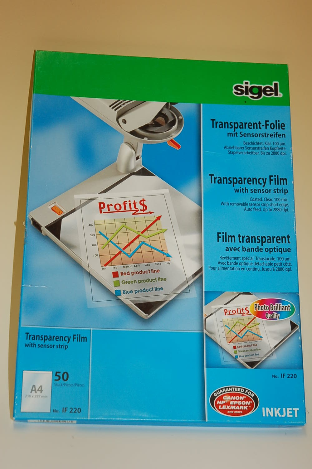 Sigel Transparent Folie A4 50 Blatt IF220