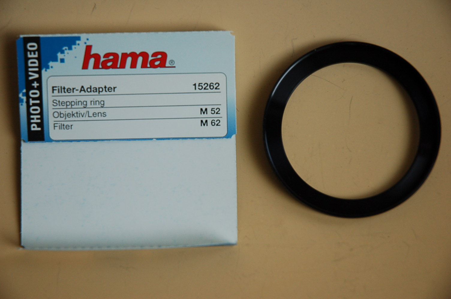 Hama Filter Adapter 52<62mm 15262