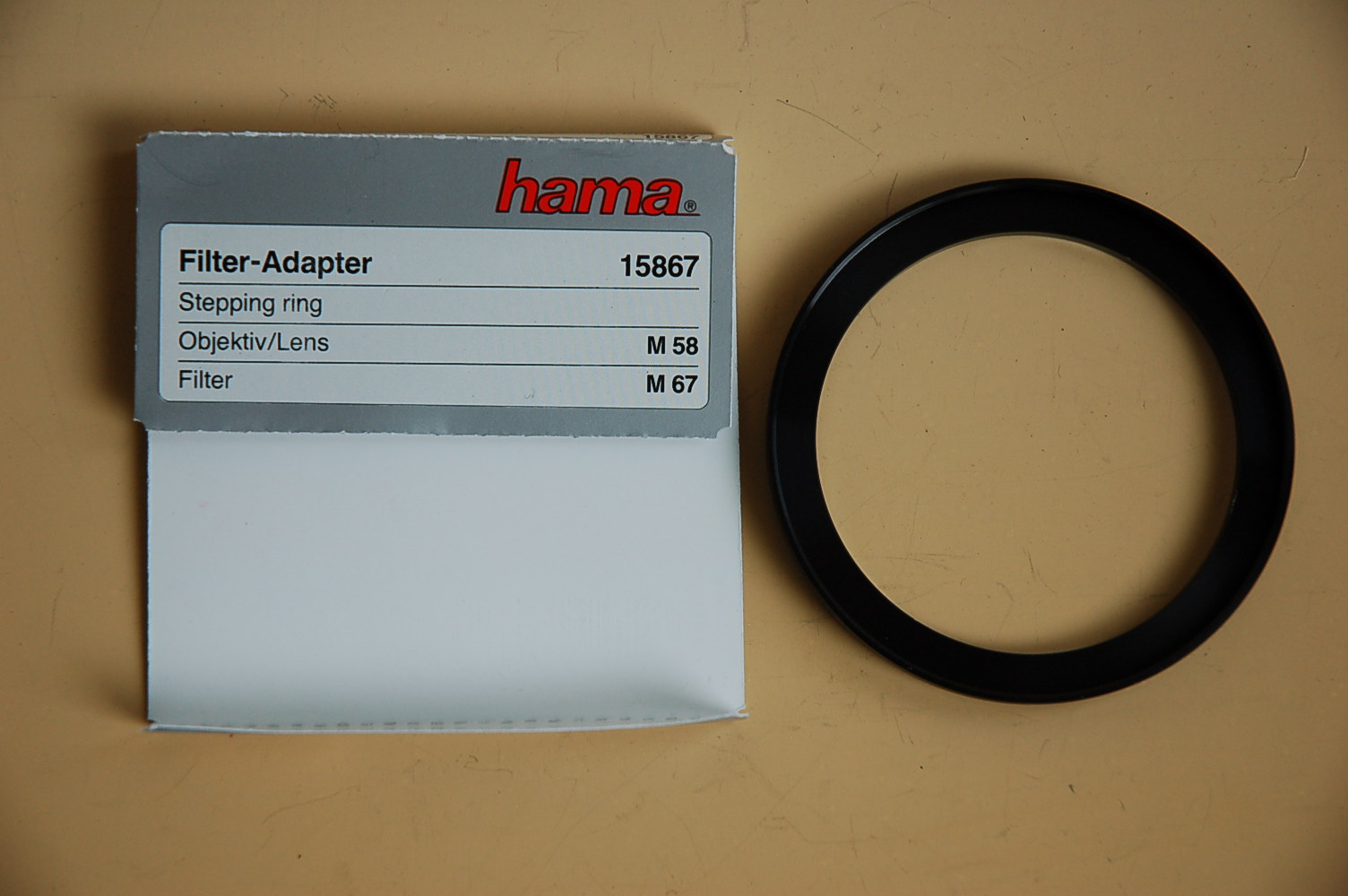 Hama Filter Adapter 58<67mm 15867