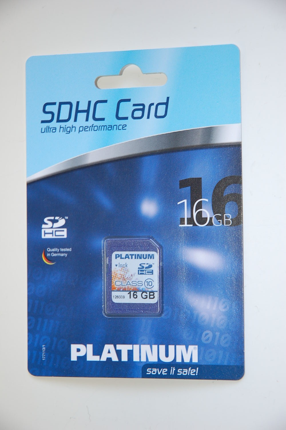 Platinum SD Card 16 GB HC